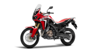 Africa Twin bike on white background