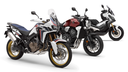Range of Honda motorcycles.